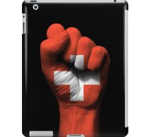 Flag of Switzerland on a Raised Clenched Fist  iPad Case/Skin