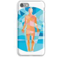 Human Muscular System Anatomy Circle Low Polygon iPhone Case/Skin