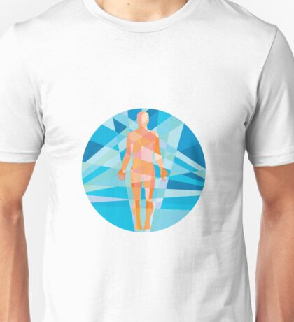 Human Muscular System Anatomy Circle Low Polygon Unisex T-Shirt