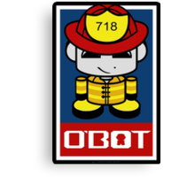 Firefighter Hero'bot 1.1 Canvas Print