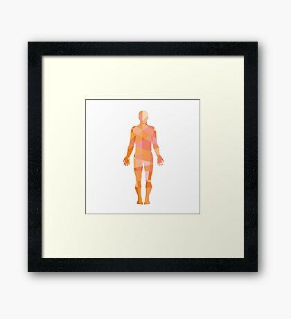 Human Muscular System Anatomy Low Polygon Framed Print