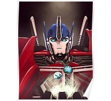 Optimus Prime w/ Earth and Cybertron Poster