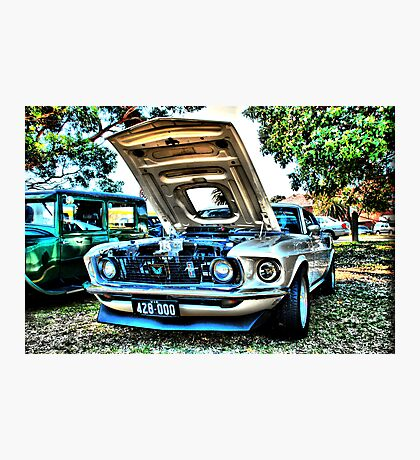 Mustang HDR Photographic Print