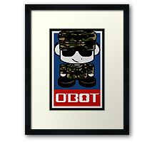 Army Hero'bot 1.1 Framed Print
