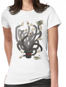 Hands Womens Fitted T-Shirt