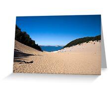 Carlo Sand Blow - Rainbow Beach Greeting Card