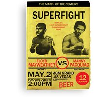 Manny Pacquiao Vs Floyd Mayweather Canvas Print