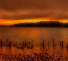 Soft Sunset over Loch Ness by Fraser Ross