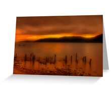Soft Sunset over Loch Ness Greeting Card