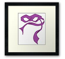Donnie Mask Framed Print