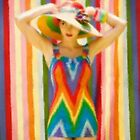 Rainbow Bathing Suit by RobynLee