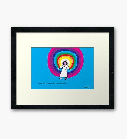 Jesus loves me this I know - A child's Prayer Card No 4 Framed Print