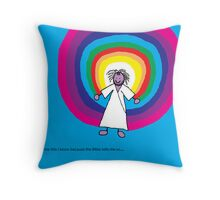 Jesus loves me this I know - A child's Prayer Card No 4 Throw Pillow