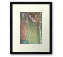 woman with a water jar   Framed Print