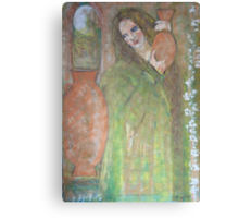 woman with a water jar   Canvas Print