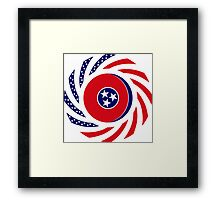 Tennessean Murican Patriot Flag Series Framed Print