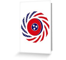 Tennessean Murican Patriot Flag Series Greeting Card