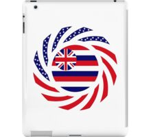 Hawaiian Murican Patriot Flag Series iPad Case/Skin