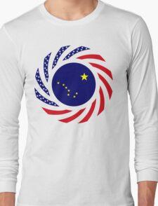 Alaskan Murican Patriot Flag Series Long Sleeve T-Shirt