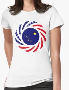 Alaskan Murican Patriot Flag Series Womens Fitted T-Shirt