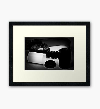 Black and White Film Framed Print