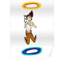 Chell falls for eternity Poster