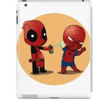 Deadpool and spiderman iPad Case/Skin
