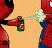 Deadpool and spiderman Sticker