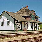 Bellis Railway Station, Ukrainian Heritage Village, near Edmonton, Alberta, Canada by Adrian Paul