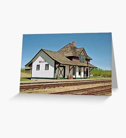 Bellis Railway Station, Ukrainian Heritage Village, near Edmonton, Alberta, Canada Greeting Card