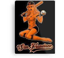 SF Giants Pin-Up Girl 2 Metal Print