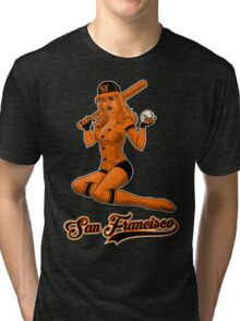 SF Giants Pin-Up Girl 2 Tri-blend T-Shirt