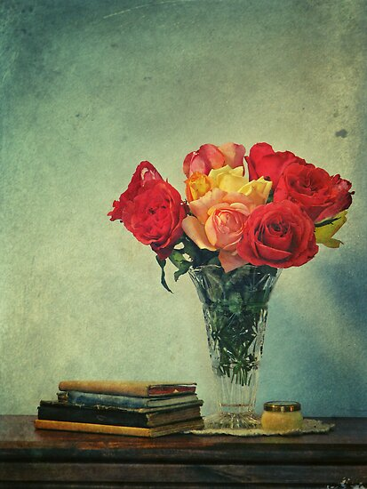 still life with books by Adriana Glackin