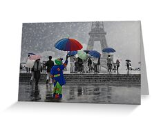 Bonjour Paris! Greeting Card