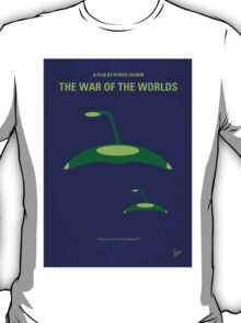 No118 My WAR OF THE WORLDS minimal movie poster T-Shirt