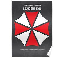 No119 My RESIDENT EVIL minimal movie poster Poster