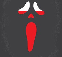 No121 My SCREAM minimal movie poster by JiLong