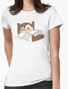 Breakfast In Bed Womens Fitted T-Shirt
