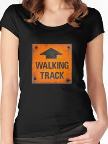 Walking Track Women's Fitted Scoop T-Shirt