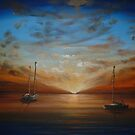 Yachts on the Horizon... by Cherie Roe Dirksen
