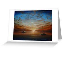 Yachts on the Horizon... Greeting Card