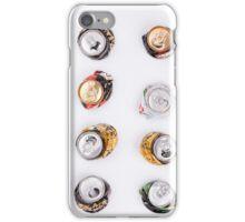 smashed beer drink cans  iPhone Case/Skin