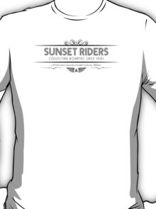 Sunset Riders - Art Deco Black T-Shirt