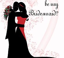 Will you be my bridesmaid vector couple close  by Moonlake