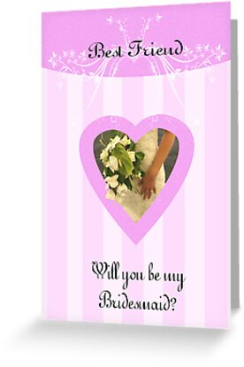 Will you be my bridesmaid best friend request card by Moonlake