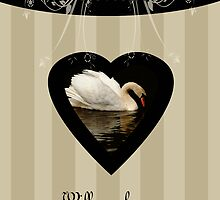 Will you be my bridesmaid, niece, creams and beige with swan by Moonlake