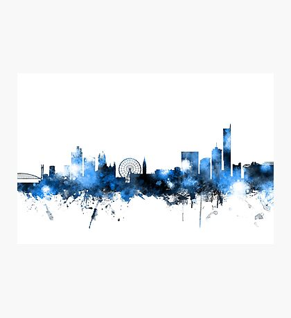 Manchester England Skyline Photographic Print