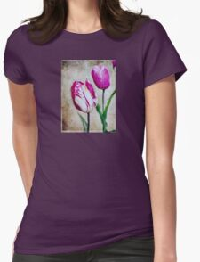 Vintage Tulips Womens Fitted T-Shirt