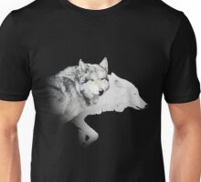 gray wolf and white wolf Unisex T-Shirt