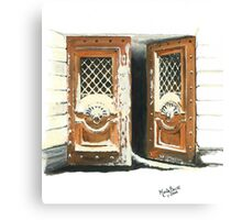 DOORWAY IN ST. PETERSBURG/Oil on canvas Canvas Print